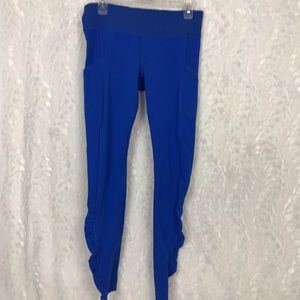 Lululemon Blue rousched leggings size 8